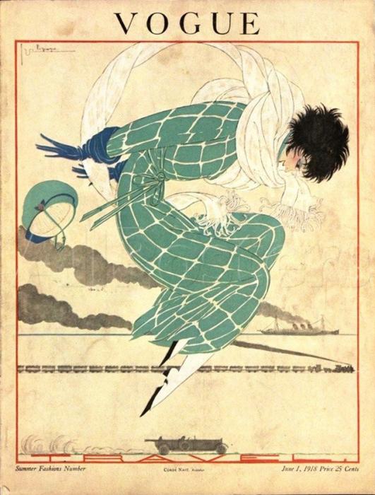 Обложка журнала Vogue, июнь, 1918. Иллюстратор Жорж Лепап (Georges Lepape)