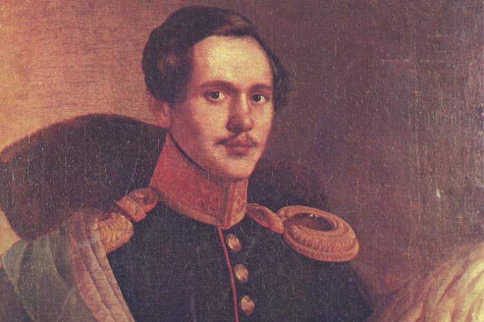 М. Ю. Лермонтов в вицмундире лейб-гвардии Гусарского полка. Ф. О. Будкин. Масло. 1834 год
