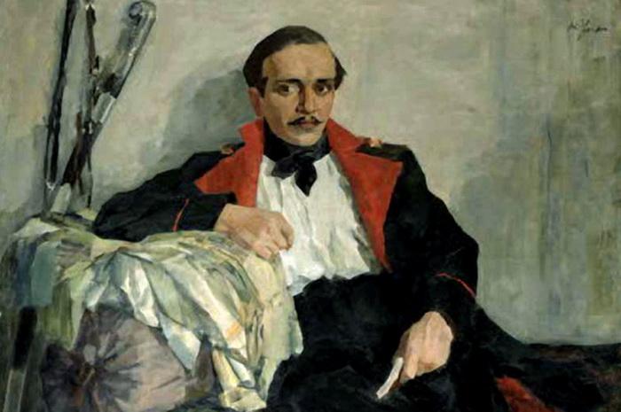 Портрет М. Ю. Лермонтова. Николай Ульянов, 1930 год