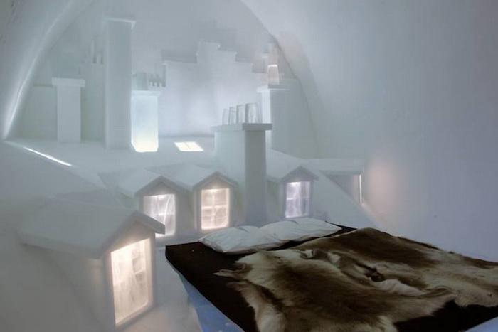 Дизйн комнаты напоминает архитектуру Монмартра