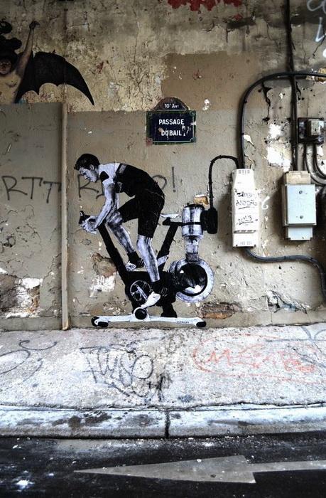 Стрит-арт от Levalet