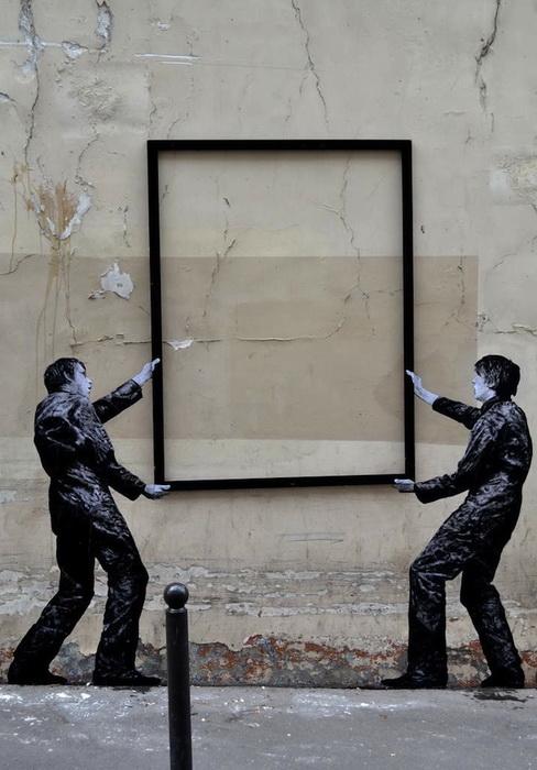 Стрит-арт на улицах Парижа