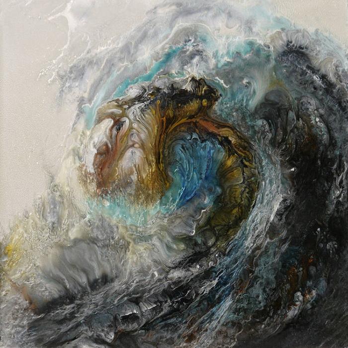 Рисунки бушующего океана от Lia Melia