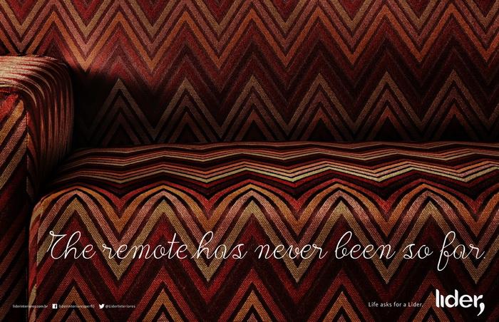 Реклама мебели Lider Interiores: Пульт никогда не был так далеко