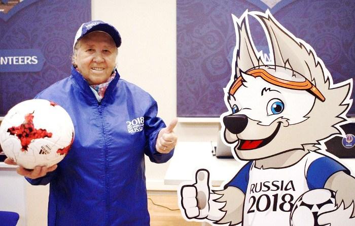 Лидия Волкова - самый взрослый волонтер ЧМ-2018. Фото: izvmor.ru