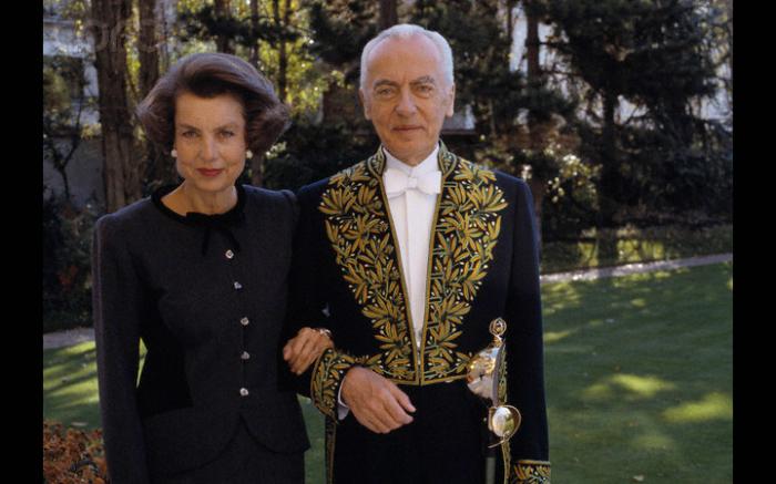 Лилиан Беттанкур с мужем.