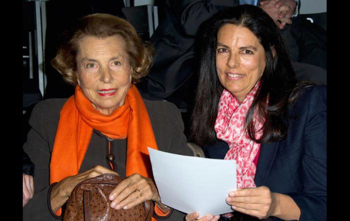 Лилиан Беттанкур с дочерью Франсуазой.