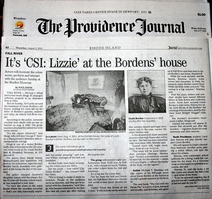 Публикации в прессе о Лиззи Борден.