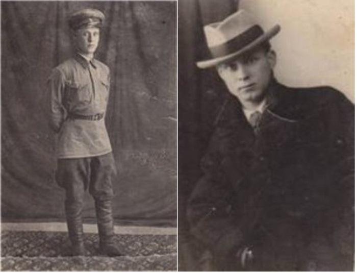 Василий Лобачев до отправки на фронт.