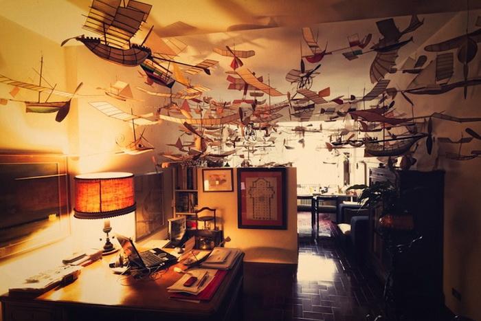 Летучие корабли в мастерской Луиджи Прина (Luigi Prina)