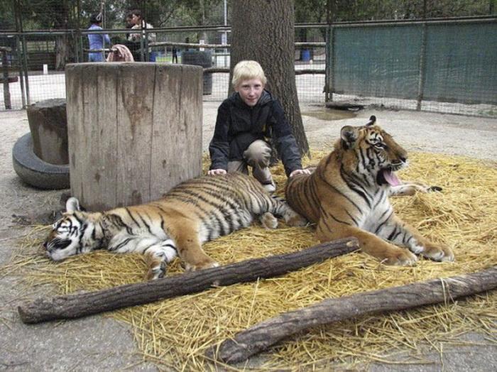 Идиллия зверей и людей в зоопарке Лухан (Буэнос-Айрес)