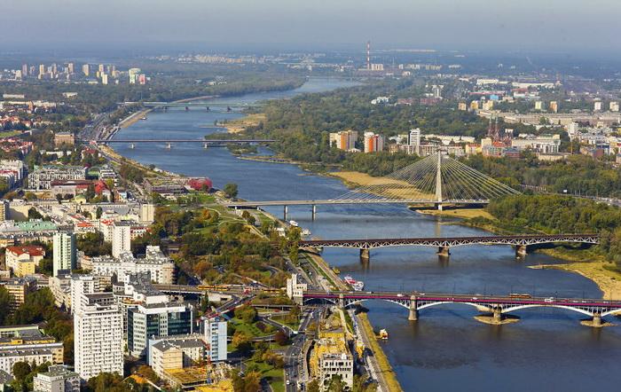 Варшава при свете дня