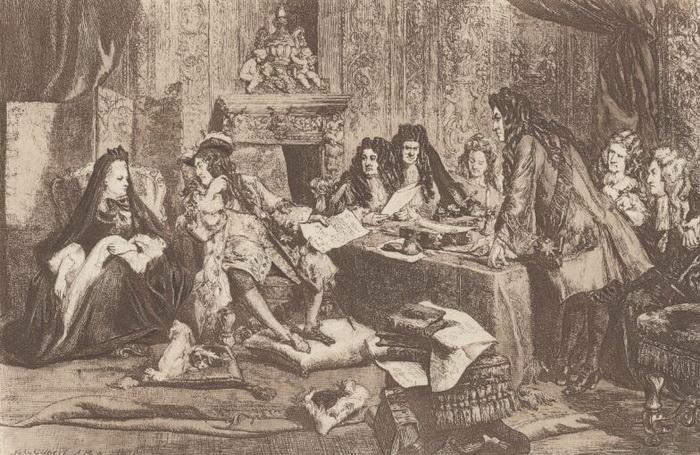 Маркиза Ментенон часто присутствовала на совещаниях