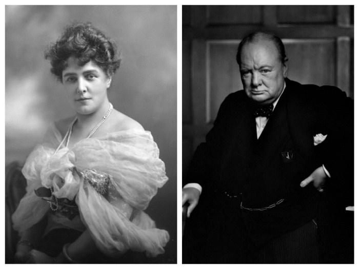 Дженни и Уинстон Черчилль.