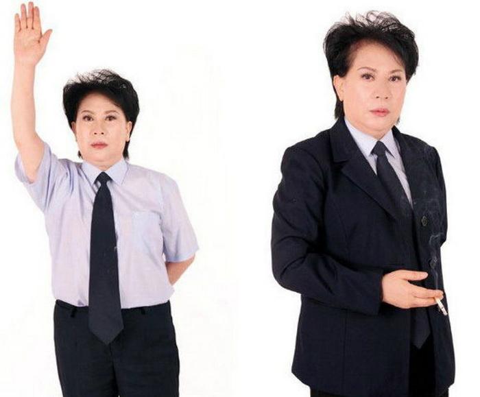Китаянка Чэнь Янь без грима и одежды