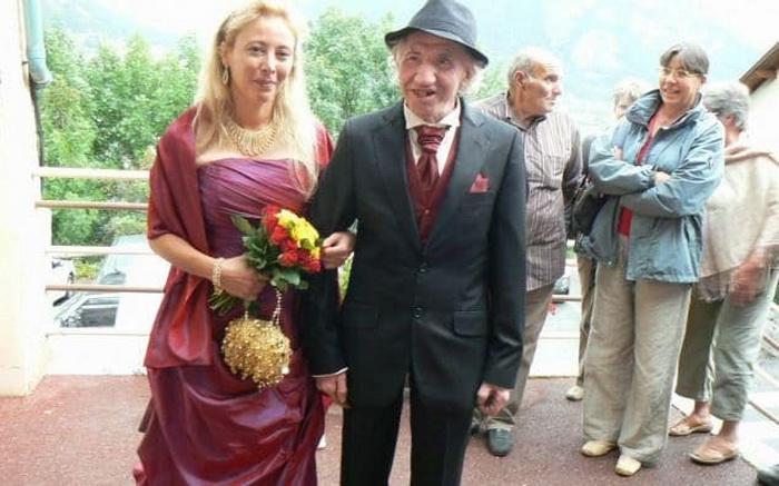 Неравный брак: свадебная фотография Сандрин и Марселя.