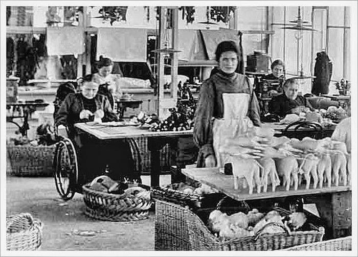 Маргарет Штайф можно было часто видеть на фабрике