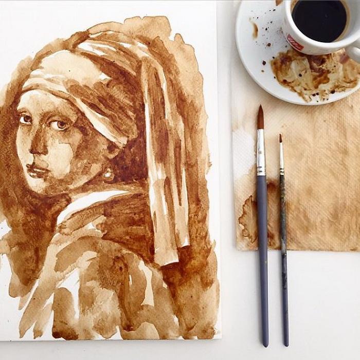 Копия картины 'Девушка с жемчужной сережкой' Яна Вермеера