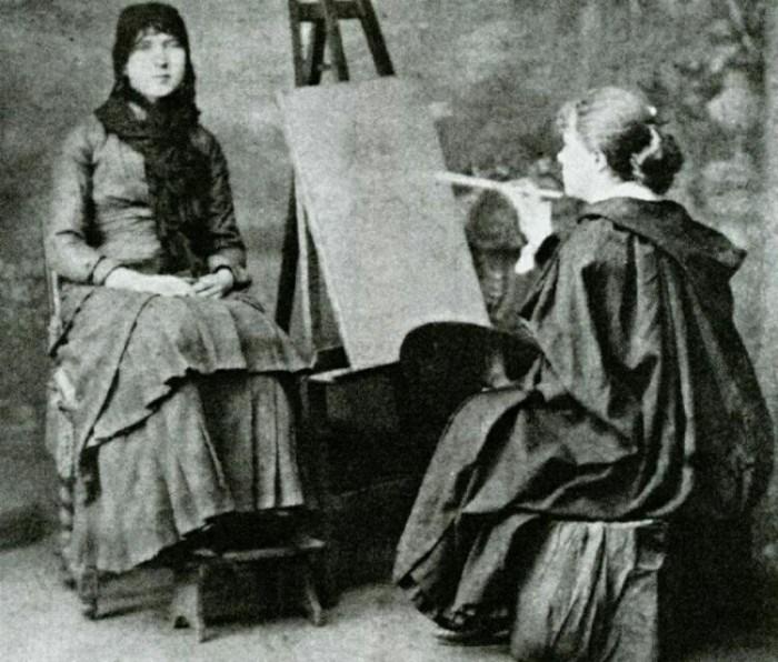 Мария Башкирцева у мольберта
