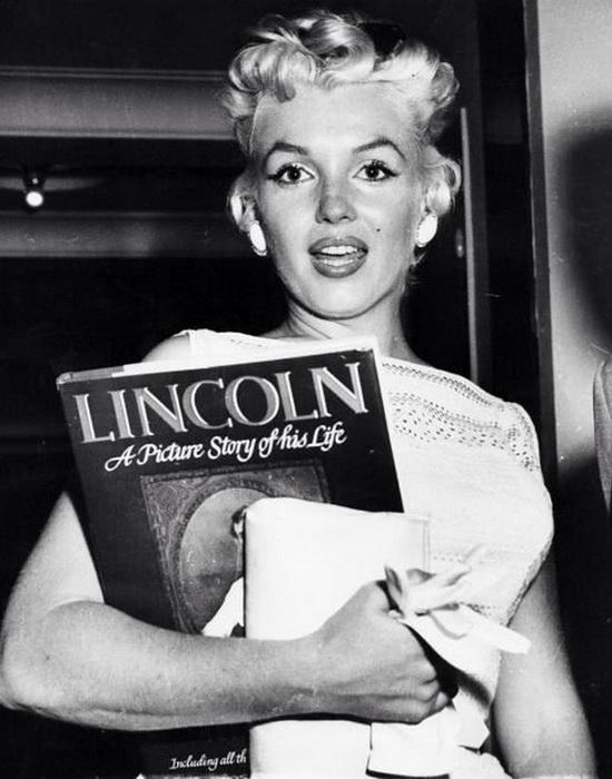 Мэрилин Монро много читала о жизни Авраама Линкольна