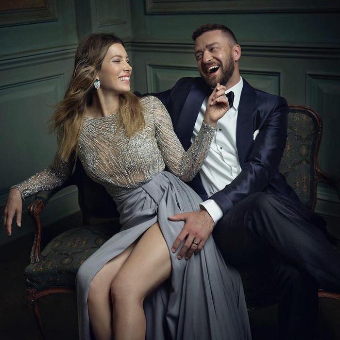 Портрет Джессики Бил и Джастина Тимберлейка (Jessica Biel and Justin Timberlake)