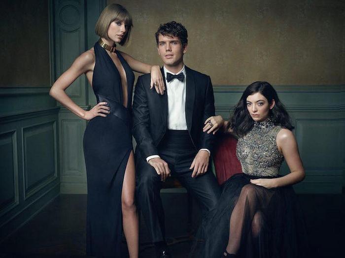 Слева направо: Тейлор Свифт, Остин Свифт, Лорд (Taylor Swift, Austin Swift, and Lorde)