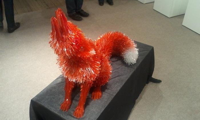 Скульптуры животных из стекла от Марты Клоновской