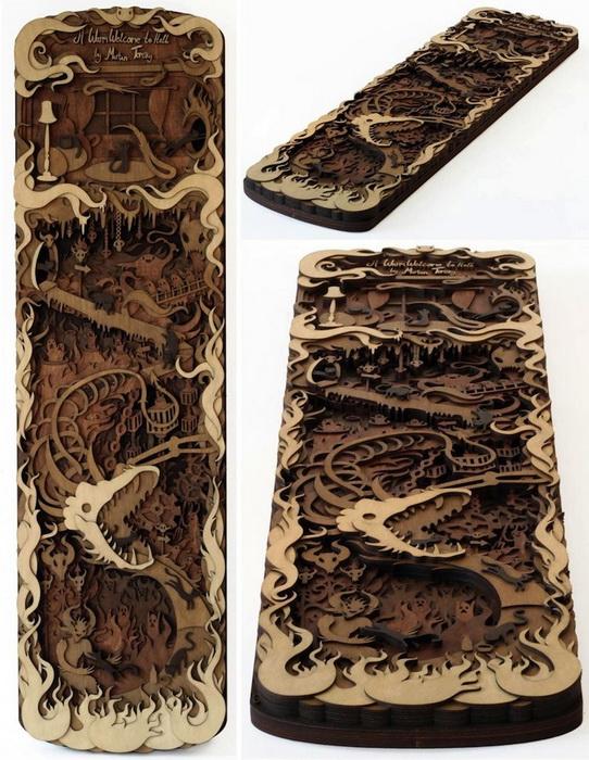 Деревянные скульптуры от Мартина Томски (Martin Tomsky)
