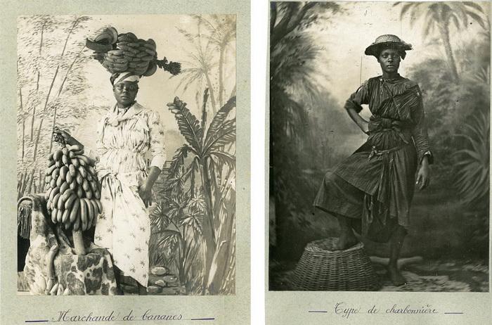 Торговка бананами и женщина, добывающая уголь