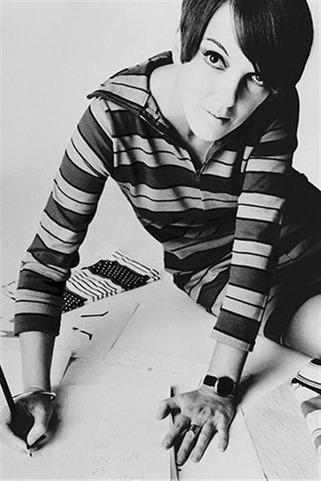 Мэри Квант ввела моду на обтягивающие полосатые свитера