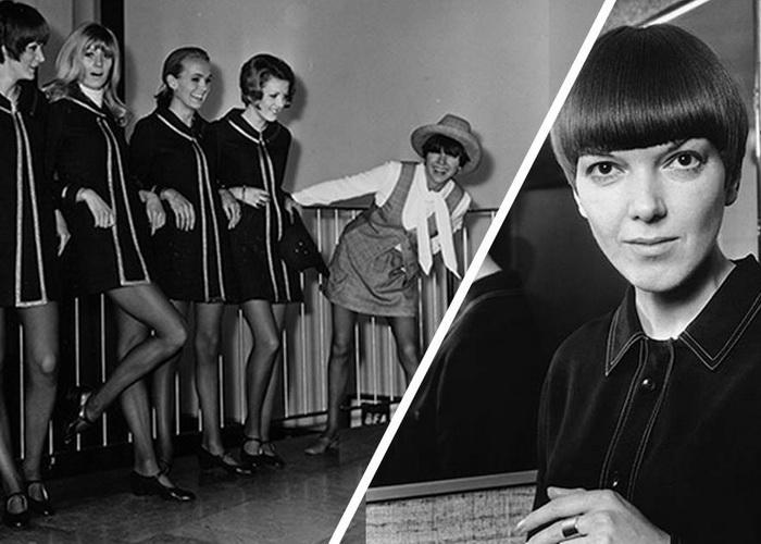 Создательница мини-юбки Сєри Квант и ее модели