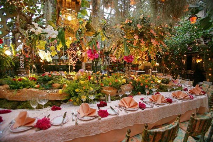 Цветочный ресторан Mas Provencal