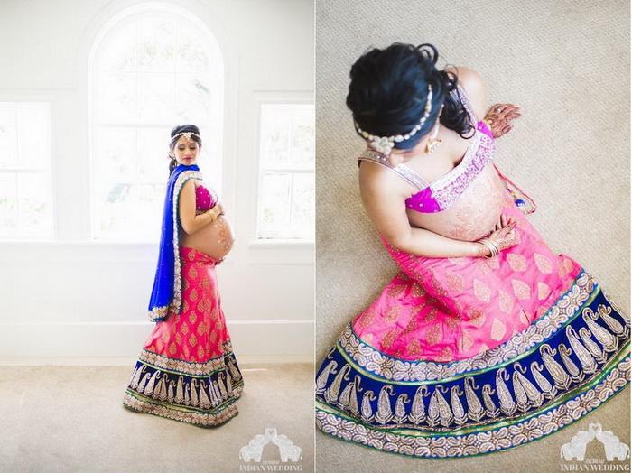 Очаровательные фотографии беременной индианки