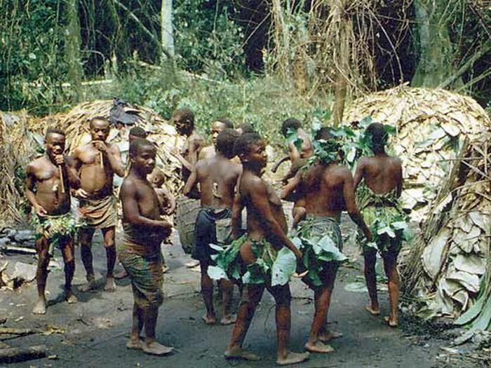 Ритуальные действа в племени мбути