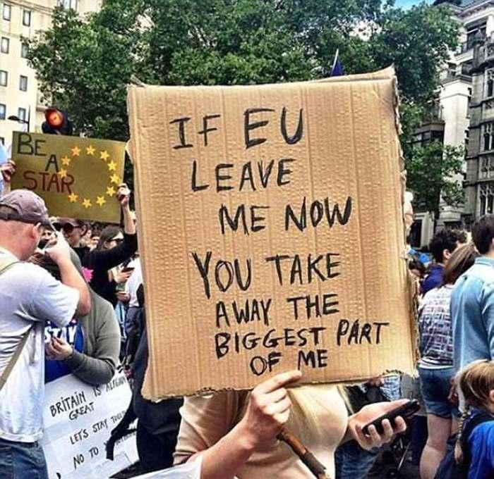 Протест против голосования по Брекситу.