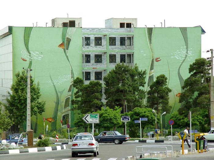 Тегеранский стрит-арт от Mehdi Ghadyanloo