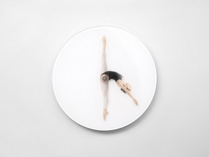 Креативные часы, имитирующие танец балерины
