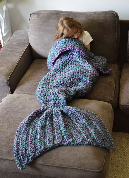 Вязаный хвост для настоящей русалки от Melanie Campbell