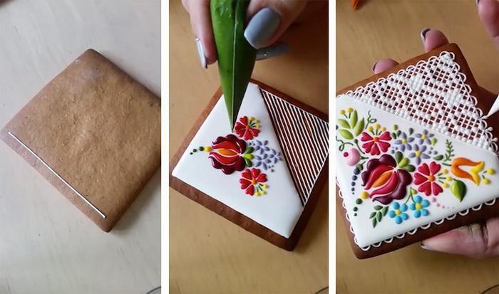 Этапы создания рисунка на кондитерских изделиях