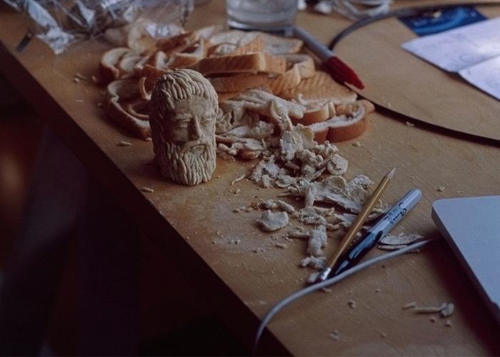 Платон. Скульптуры из хлеба от Милены Корольчук
