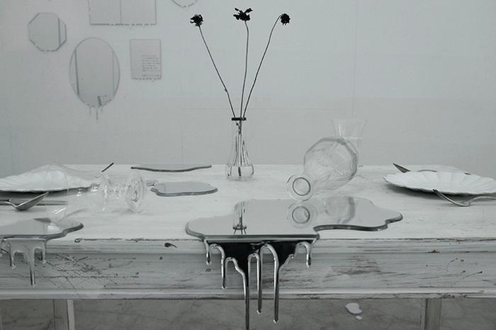 Водяные зеркала в инсталляции дизайнеров Rikako Nagashima и Hideto Hyoudou