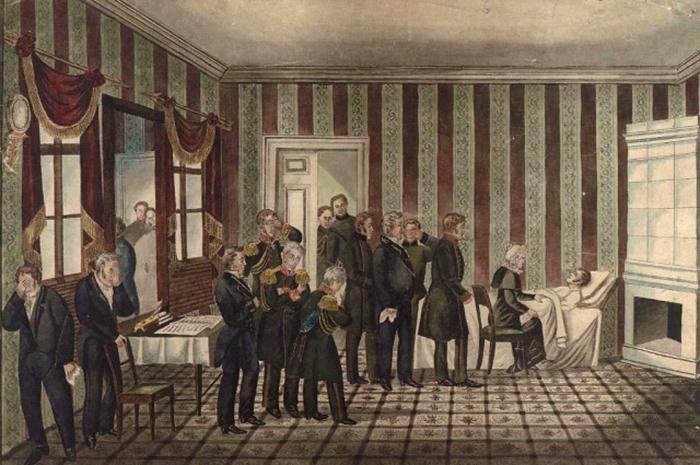 Смерть Александра I (литография XIX века)