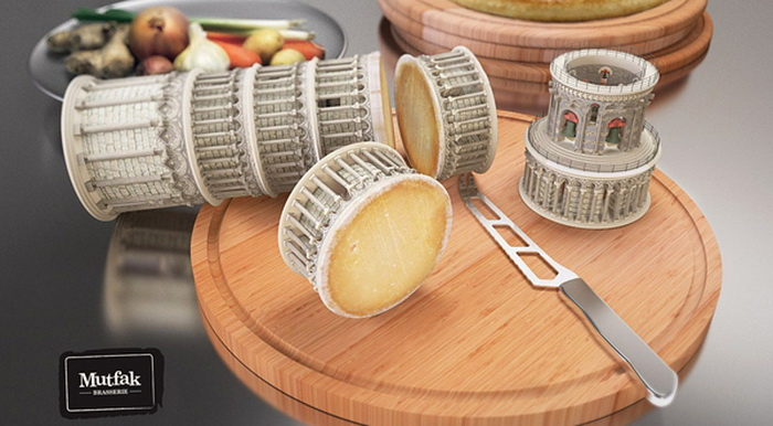 Реклама ресторана Mutfak Brasserie с архитектурным привкусом