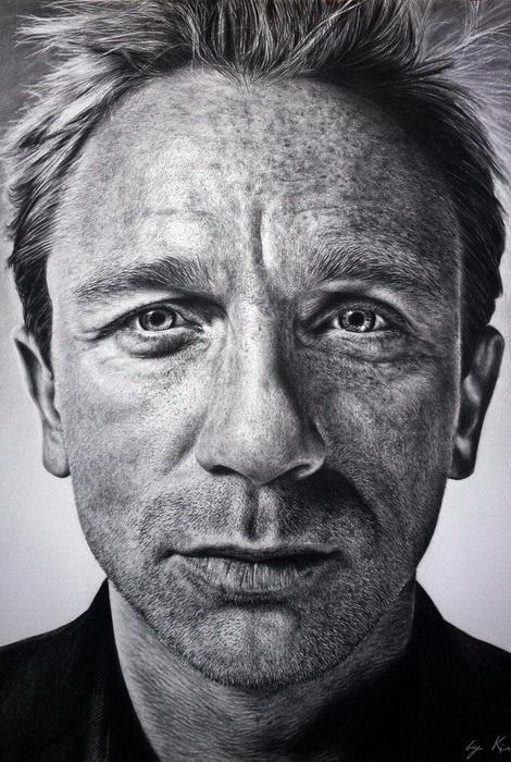 Дэниэл Крейг. Портрет от Наташи Кинару