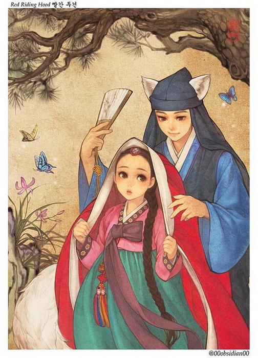 Красная Шапочка: иллюстрация корейской художницы Nayoung Wooh