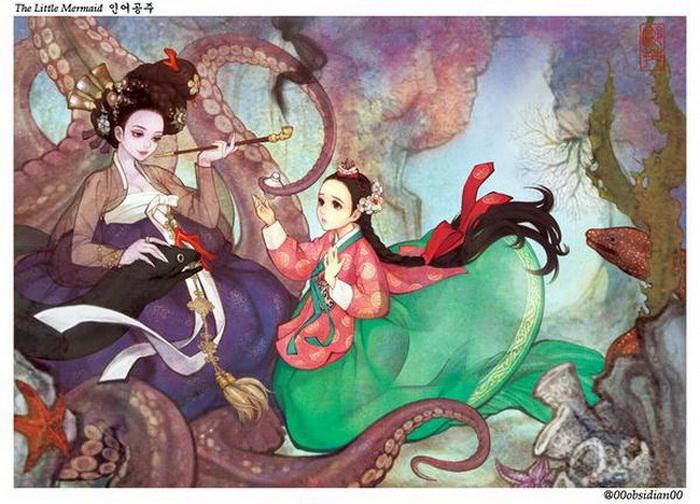 Русалочка: иллюстрация корейской художницы Nayoung Wooh