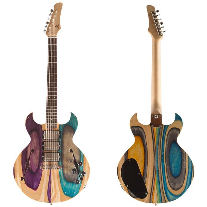 Гитары из старых скейтбордов от Ника Порфарда (Nick Pourfard)