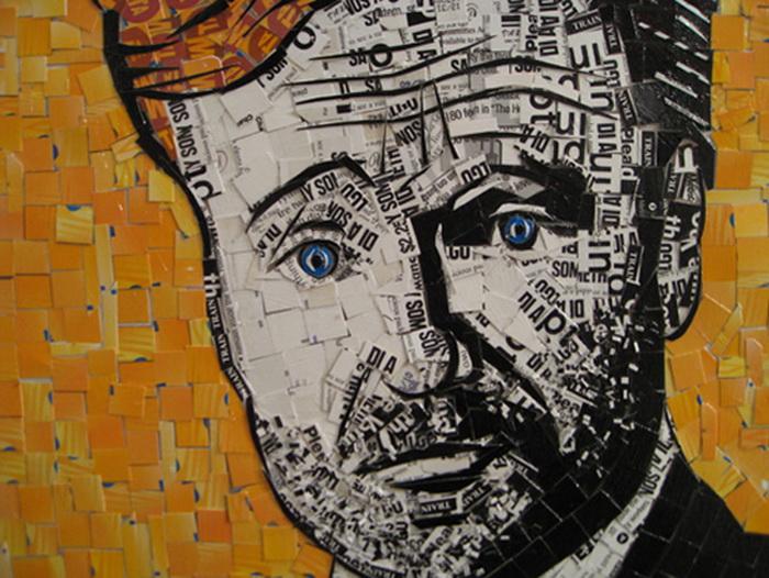 На многих мозаиках Нина Бош изображает известных американцев