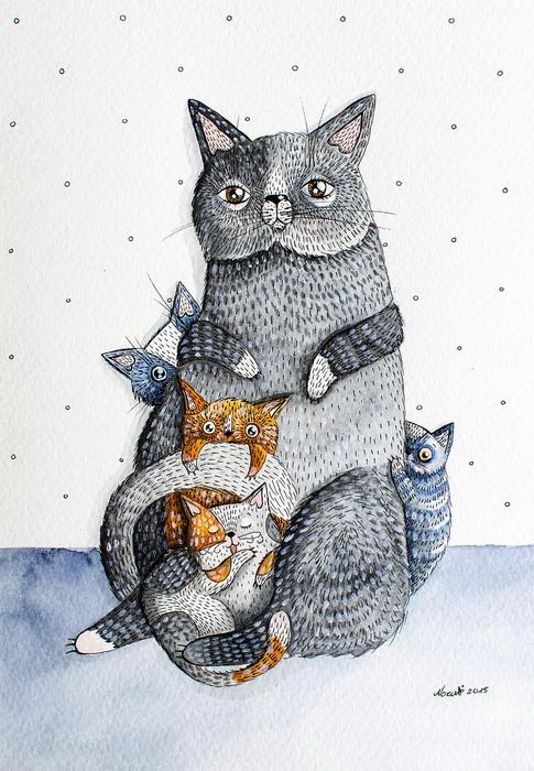 Семейство мурлык. Автор: Nora