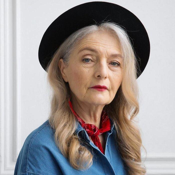 Ольга Кондрашева, 72 года. Модель российского агентства Oldushka.